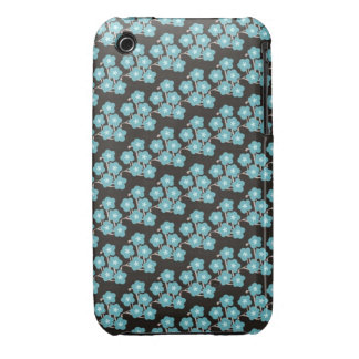 pretty funky blue japanese spring cherry blossoms iPhone 3 cover