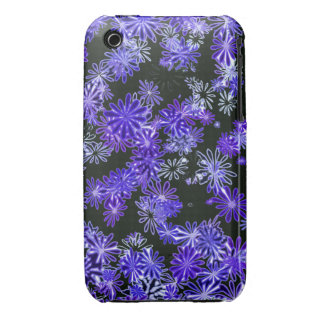 pretty funky indigo spring daisy flowers pattern iPhone 3 covers