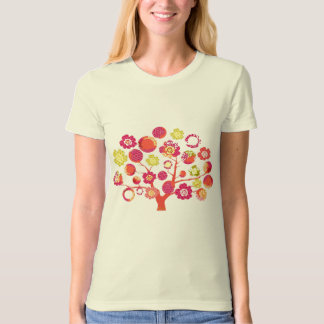 Pretty funky pink Japanese blossom tree of life T-Shirt
