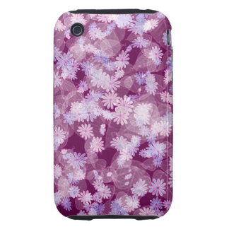 pretty funky purple spring daisy flowers pattern tough iPhone 3 cases