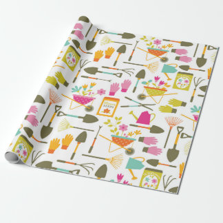 Pretty Garden Tools Wrapping Paper