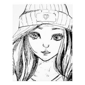 Pretty Girl Customized Letterhead