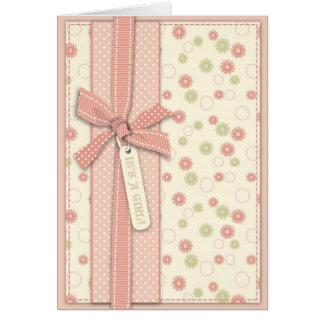 Pretty Girl Floral Card