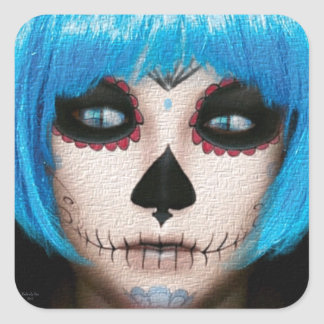 Pretty Girl Skeleton Sticker by #artfuloasis