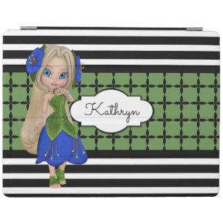 Pretty Girl w/Modern Patterns iPad Cover