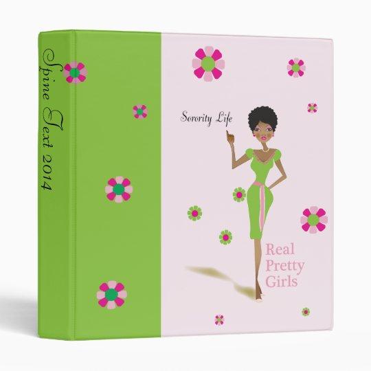 Pretty Girls Pink and Green Binder