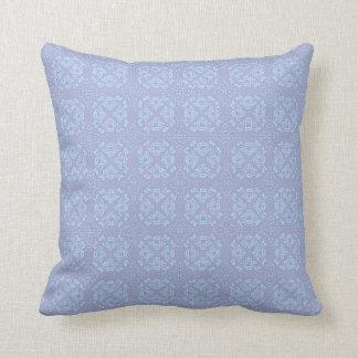 Pretty, Girly, Floral Pattern - Light Blue, Purple Pillows