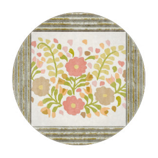 Pretty Girly Flowers In Multicolors Cutting Board