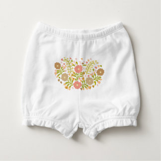 Pretty Girly Flowers In Multicolors Diaper Cover