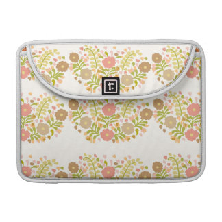Pretty Girly Flowers In Multicolors MacBook Pro Sleeve