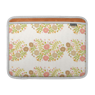 Pretty Girly Flowers In Multicolors Sleeves For MacBook Air