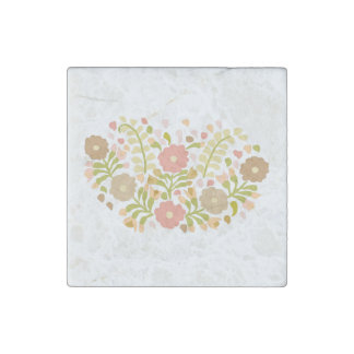 Pretty Girly Flowers In Multicolors Stone Magnets