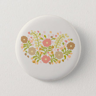 Pretty Girly Flowers In Pastels 2 Inch Round Button