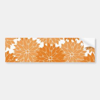 Pretty Girly Orange Flower Blossoms Floral Print Bumper Stickers