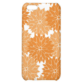 Pretty Girly Orange Flower Blossoms Floral Print iPhone 5C Covers
