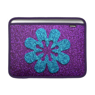 Pretty Glitter Flower Ipad Sleeve