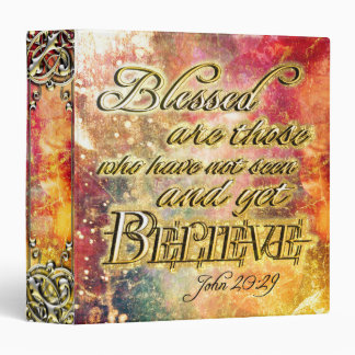 Pretty Gold Blessed Spiritual Scripture 3 Ring Binders