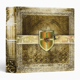 Pretty Gold Fantasy Ancient Tome 3 Ring Binders