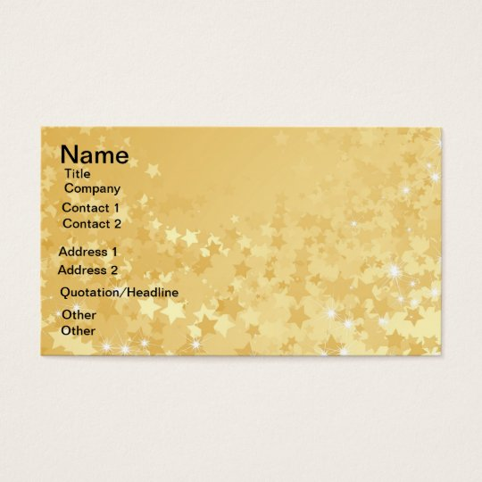 Pretty Gold Stars Business Card