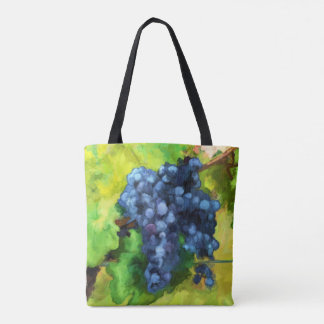 Pretty Grape Abstract water color bag