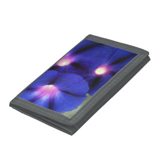 Pretty Gray Floral Photo Wallet