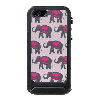 Pretty Gray Hot Pink Elephants on pink polka dots Incipio ATLAS ID™ iPhone 5 Case