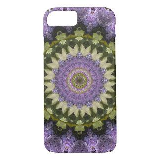 Pretty Green and Purple Lilac Floral Mandala Case-Mate iPhone Case