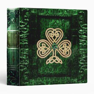 Pretty Green Celtic Ancient Tome Magic Book Binders
