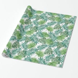 Pretty Green Ferns Textile Gift Wrap