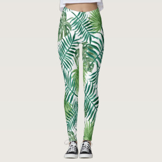 Pretty Green Ferns Textile Leggings