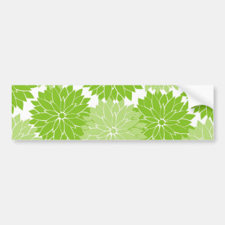 Pretty green Flower Blossoms Floral Pattern Bumper Stickers