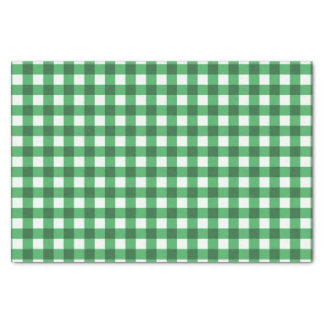 Pretty Green Gingham Checked Pattern Tissue Paper