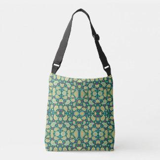 Pretty green kaleidoscope print on cross body bag