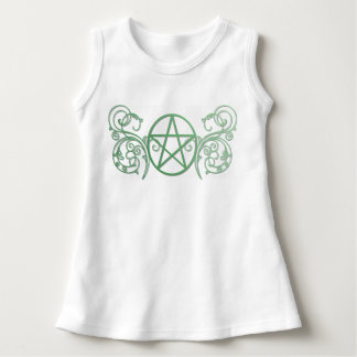 Pretty green pentacle fluer dress