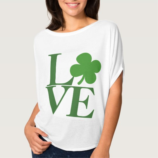 Pretty Green Shamrock Love T-Shirt