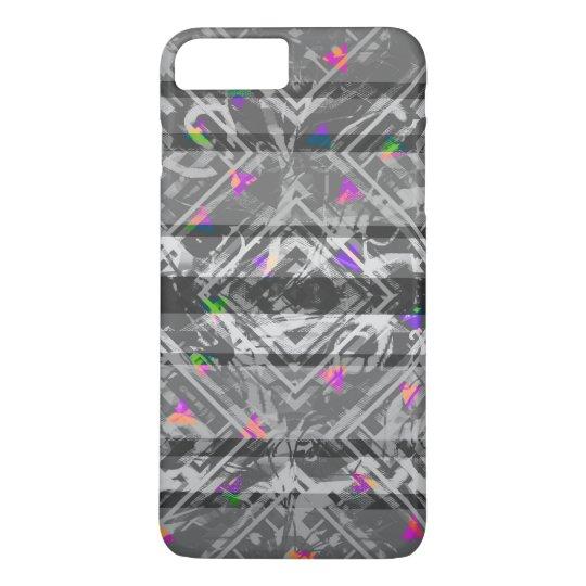Pretty Grey Tribal Neon Triangle Stripe Pattern iPhone 8 Plus/7 Plus Case