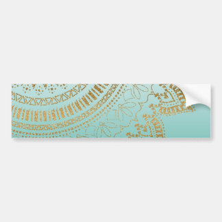 Pretty hand drawn tribal mandala elegant design bumper sticker