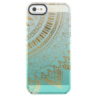Pretty hand drawn tribal mandala elegant design clear iPhone SE/5/5s case