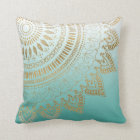 Pretty hand drawn tribal mandala elegant design throw pillow