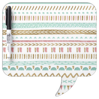 Pretty hand paint tribal Aztec geometric design Dry Erase Board