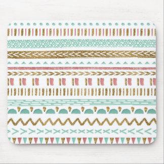 Pretty hand paint tribal Aztec geometric design Mouse Pad