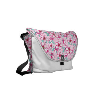 Pretty hawaiian cherry blossoms courier bag