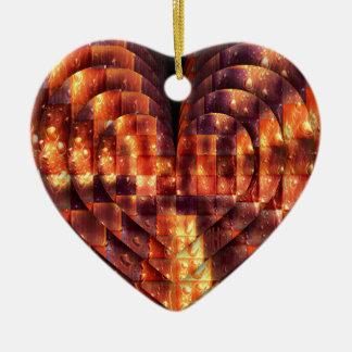 Pretty Heart to Find Ceramic Ornament
