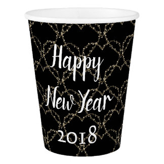 Pretty Hearts New Year Paper Cup