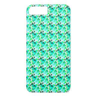 Pretty Hearts Pattern Mobile Case Green