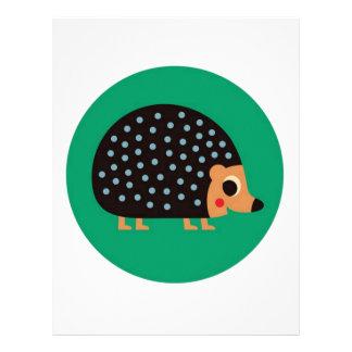 Pretty hedgehog letterhead