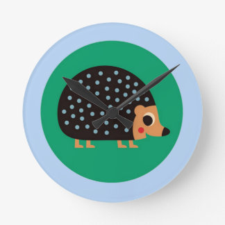 Pretty hedgehog round clock
