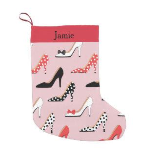 Pretty Heels Pink Small Christmas Stocking