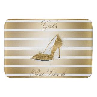 """Pretty High heels shoe """"Girls best Friends"""" Bath Mat"""