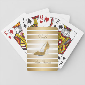 "Pretty High heels shoe ""Girls best Friends"" Playing Cards"